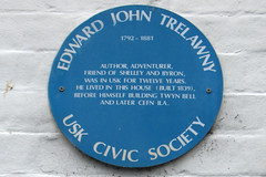 Photo of Edward John Trelawney blue plaque