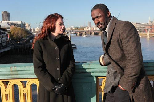 Alice Morgan and Luther, standing on a bridge in London