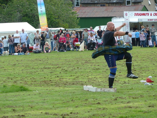 Putting the Shot at Killin Highland Games