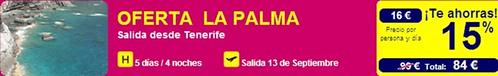 Oferta Gran Canaria- La Palma
