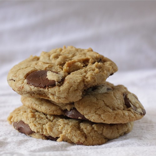 chewy cookies with chocolate discs