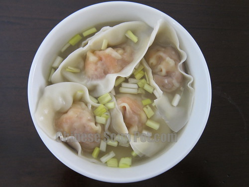 [Photo-bowl of shrimp wontons in supreme broth]