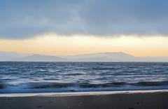 it's heavy still (pbo31) Tags: california blue sunset summer sky orange color beach water northerncalifornia fog bay berkeley nikon overcast august bayarea eastshore 2011 d700