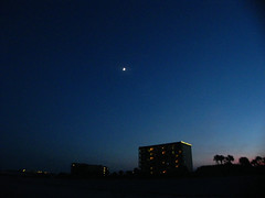 Moon over Cocoa Beach