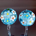 Earring Pair : Blue Flower Blossom