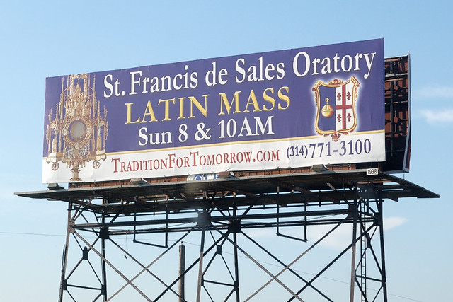 Billboard for Saint Francis de Sales Oratory