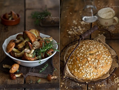 5 Bognarreni-Mushrooms Ingred Bread Loaf Wood