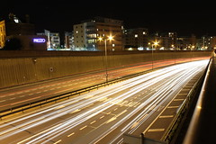 A406 South Woodford at night (Beatley) Tags: urban motion london night motionblur lighttrails southwoodford