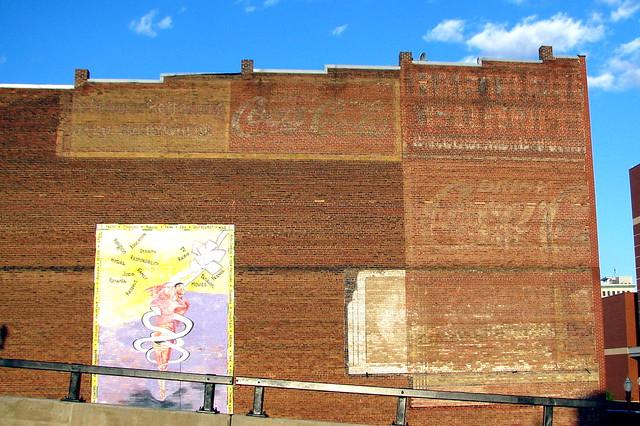 Several faded wall ads - Roanoke, VA