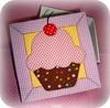 Caixa cupcake (Karollynne) Tags: cupcake caixa tecido patchworkembutido