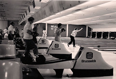 The interior of the center, which featured top-of-the-line Brunswick equipment when it was built, is shown in the 1989 El Cerrito Journal photograph by Mark Koehler.