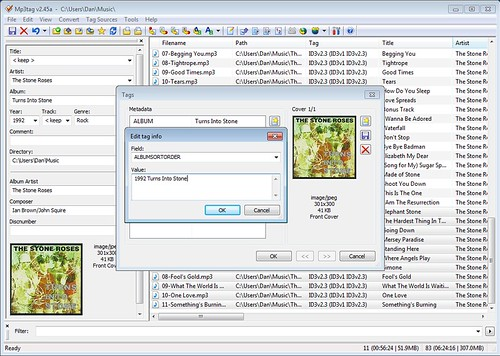 Changing album sort in MP3Tag