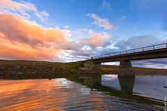 Old Bridge (Gulli Vals) Tags: old bridge sunset sky water clouds river island iceland doublyniceshot doubleniceshot mygearandme mygearandmepremium mygearandmebronze mygearandmesilver dblringexcellence