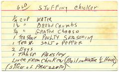 Meat - Stuffed Stuffing Chicken BX0024 (Eudaemonius) Tags: green chicken metal vintage stuffing recipe cards stuffed box meat card 6lb eudaemonius bluemarblebountycom bx0024 20110929