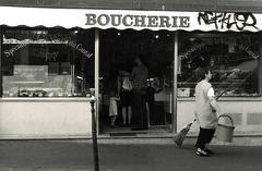 Boucherie (van_dun) Tags: white black paris streetphotography meat marais boucherie adget