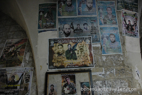 martyr posters nablus old city