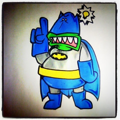 Rookis Batman has an idea!!! (ROOKIS MAGNOLIOUS) Tags: graffiti sticker stickers enamel rookis 228label magnolious