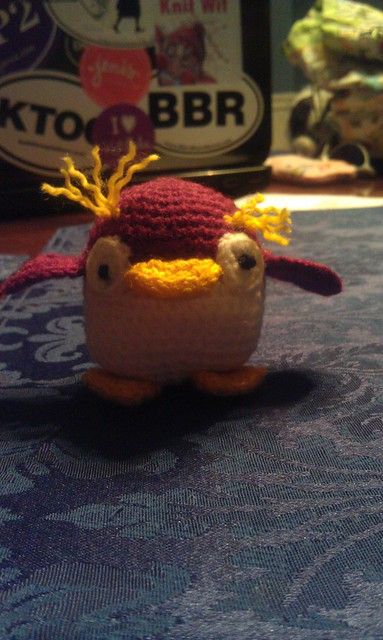 Franklin's cute-as-a-button penguin