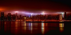 New York City (mudpig) Tags: nyc newyorkcity longexposure cloud mist ny newyork reflection fog skyline brooklyn night geotagged cityscape un esb unitednations eastriver williamsburg empirestatebuilding gothamist trumptower chryslerbuilding greenpoint fdrdrive hdr fdr bankofamericabuilding onebryantpark mudpig stevekelley indiastreetpier stevenkelley eastriverwatertaxi