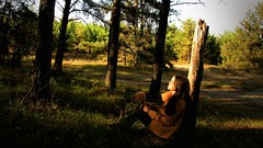 (Alysha Lewis) Tags: autumn trees sunset portrait sun selfportrait fall nature girl canon warm colourful relaxation