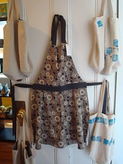 apron and bags