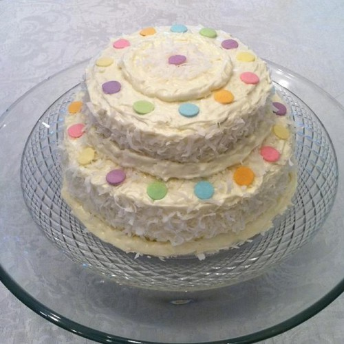 Coconut Birthday Cake