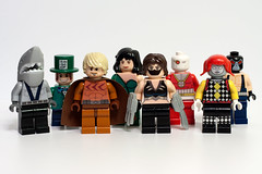 DC Supervillain Minifigs - Wave 10 (Secret Six) (levork) Tags: comics shark dc cheshire lego killer minifigs mad villain scandal bane ragdoll catman hatter moc supervillain deadshot