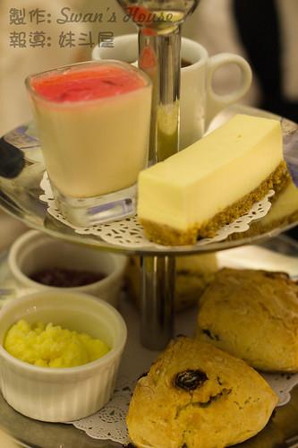 薯推介的是用來塗鬆餅的這個白色奶油 (Clotted Cream), 一點兒也不膩