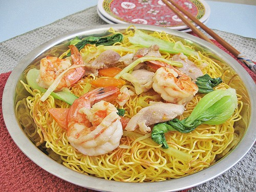 Crispy pan fried noodles from easy chinese recipes cookbook crispy pan fried noodles tested from easy chinese recipes cookbook forumfinder Choice Image