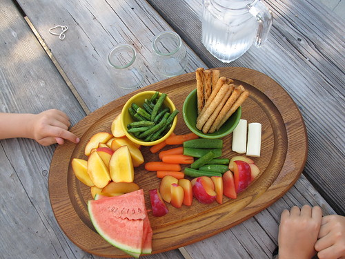 healthy summer snack trays