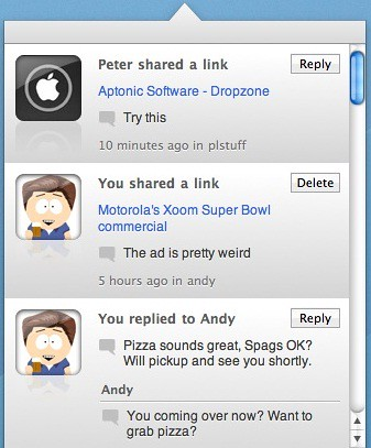 Using Frenzy and Dropbox