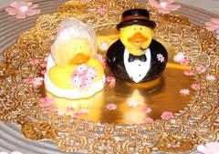 Mr and Mrs Duck (Minkas Studio) Tags: wedding groom bride duck veil rubber duckie