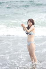 01910 (cosfit) Tags: ocean sea portrait people woman cute sexy beach girl beautiful beauty fashion japan lady asian japanese model asia pretty bikini swimsuit bathingsuit swimwear 20110703nisgp