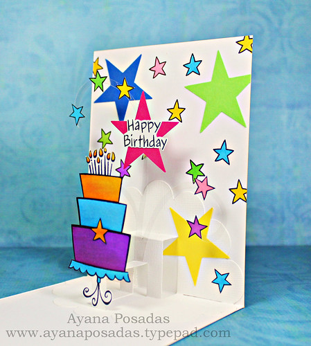 Pop-Up Star Birthday Cake (4)