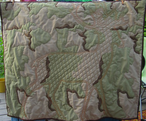 Camo Quilt with Quilted Deer