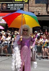 Pride 2011 - Michelle DuBarry (Georgie_grrl) Tags: gay toronto ontario smile umbrella pose lesbian downtown united culture pride celebration yongestreet colourful straight gown fabulous sequins sparkly transgendered bi bejewelled prideweek pentaxk10d cans2s michelledubarry furtherintothedarkside