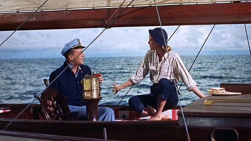 high society grace kelly vintage 50s boat sailing shirt check