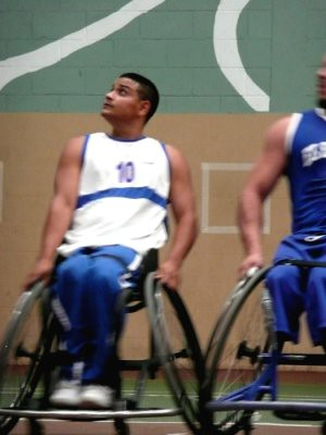 Hugo, the Top Ranked Player in the Central America Wheelchair Basketball Conference