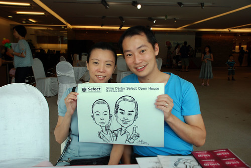 Caricature live sketching for Sime Darby Select Open House Day 2 - 26