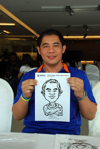 Caricature live sketching for Sime Darby Select Open House Day 2 - 33