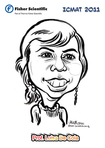Caricature for Fisher Scientific - Prof. Luisa De Cola