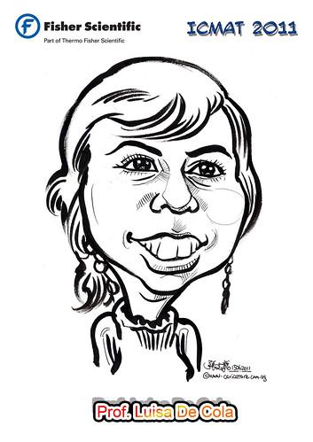 Caricature for Fisher Scientific - Prof. Luisa De Cola