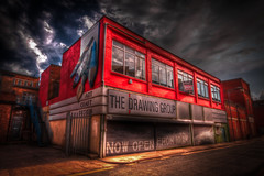 The forgotten art shop (HDR) (Mr.Shultz) Tags: uk light red england sky orange art me colors shop architecture bronze canon photography for design hall 3d l1 flickr shadows natural bright photos drawing great group central fame photographers award craft sigma gear 123 images best lovers ring kingston forgotten hardcore british recreation easy member hull dslr 1020mm hdr architecure nonstop upon brutalism excellence the 247 amature wow1 wow2 wow3 wow4 artshop 50d wow5 wowhalloffame wowthe colorphotoaward doublyniceshot tripleniceshot mygearandme dblringexcellence tplringexcellence groupartshop megahdrhardcore