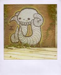 Swamp Donkey (synikat) Tags: atlanta streetart slr ga georgia polaroid 600 680 expiredfilm swampy swampdonkey