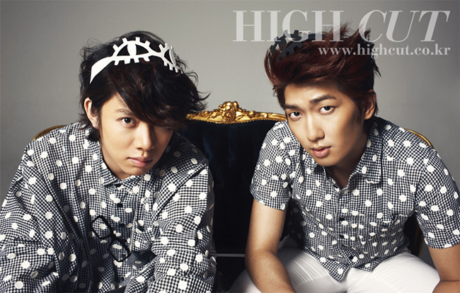 HIGH CUT Korea Magazine – Kim HeeChul from Super Junior & Kim JungMo from Trax  | Style/Influence
