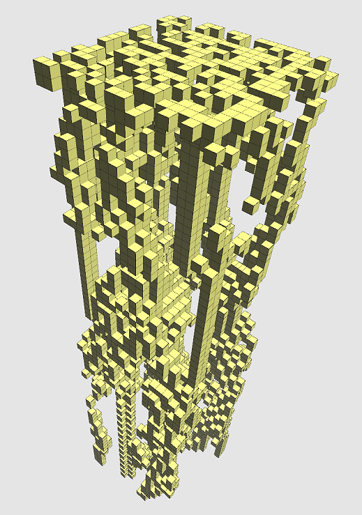 Cellular Automata - Game of Life 3D 01