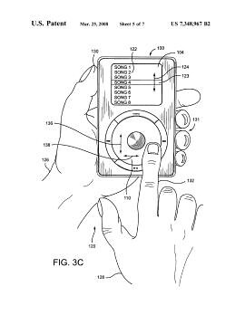 iPod's Click wheel Patent Diagram