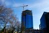 Blumau Tower, Linz (austrianpsycho) Tags: tower linz crane flags baustelle turm constructionsite kran buildingsite bauen gebäude hochhaus fahnen baukran xxxlutz blumauerstrase blumautower