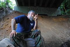DSC_1009 (tintyper) Tags: homeless streetportrait hobo panhandling underbridge homelessman pleasehelp homeguard ftra freighttrainridersofamerica freighttrainrider