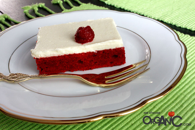 red velvet cake - sheet cake